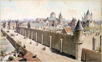 Le procès des Templiers à Paris, histoire et légende.