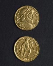 Monnaie en or à l'effigie de l'empereur Julien, IVe siècle musée Carnavalet