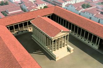 Forum de Lutèce, le temple Infographie, 2008