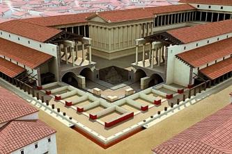 Forum de Lutèce, angle sud-est de l'édifice