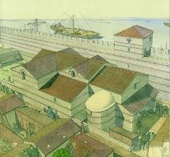 Les thermes de la crypte archéologique du parvis Notre-Dame, de J-C Golvin, 2010